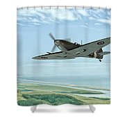 On Patrol Shower Curtain by John Edwards