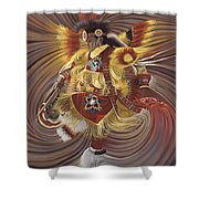 On Sacred Ground Series 4 Shower Curtain by Ricardo Chavez-Mendez