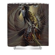 On Sacred Ground Series IIl Shower Curtain by Ricardo Chavez-Mendez