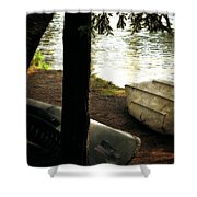 On The Island Shower Curtain by Michelle Calkins