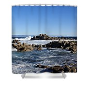 On The Rocks Shower Curtain by Barbara Snyder