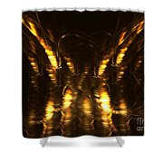 On The Wings Shower Curtain by Kim Sy Ok