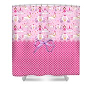 Once Upon A Princess Shower Curtain by Debra  Miller