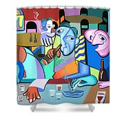 One For The Road Shower Curtain by Anthony Falbo