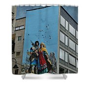 One Wall One Artist Shower Curtain by Juli Scalzi