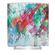 only through the blessing of Hashem Yisborach 1 Shower Curtain by David Baruch Wolk