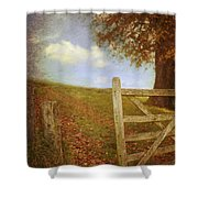 Open Country Gate Shower Curtain by Amanda And Christopher Elwell