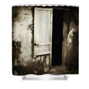 Open Door Shower Curtain by Skip Nall