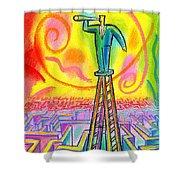 Opportunity Shower Curtain by Leon Zernitsky