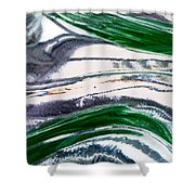 Optical Illusion Shower Curtain by Wendy Wilton