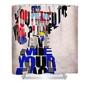 Optimus Prime Shower Curtain by Ayse Deniz