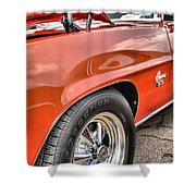 Orange Chevelle Ss 396 Shower Curtain by Dan Sproul
