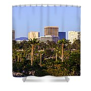 Orange County California Office Buildings Picture Shower Curtain by Paul Velgos