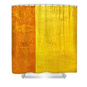 Orange Pineapple Shower Curtain by Michelle Calkins