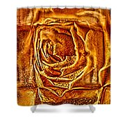 Orange Rose Shower Curtain by Omaste Witkowski