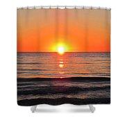 Orange Sunset  Shower Curtain by Sharon Cummings