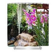 Orchid Garden Shower Curtain by Carey Chen