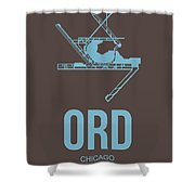 Ord Chicago Airport Poster 2 Shower Curtain by Naxart Studio