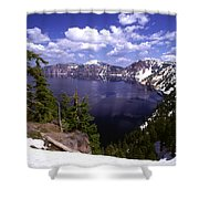 Oregon Crater Lake  Shower Curtain by Anonymous