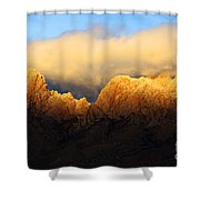 Organ Mountains Symphony Of Light Shower Curtain by Bob Christopher