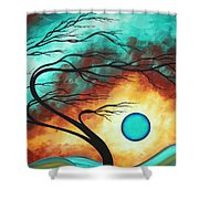 Original Bold Colorful Abstract Landscape Painting FAMILY JOY I by MADART Shower Curtain by Megan Duncanson