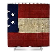 Original Stars And Bars Confederate Civil War Flag Shower Curtain by Daniel Hagerman