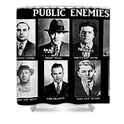 Original Gangsters - Public Enemies Shower Curtain by Paul Ward