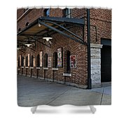 Oriole Park Box Office Shower Curtain by Susan Candelario
