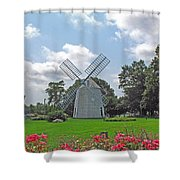 Orleans Windmill Shower Curtain by Barbara McDevitt