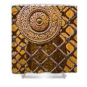 Ornate Door Knob Shower Curtain by Carolyn Marshall
