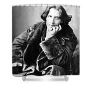 Oscar Wilde In His Favourite Coat 1882 Shower Curtain by Napoleon Sarony