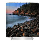 Otter Cliffs - Acadia National Park Shower Curtain by Thomas Schoeller