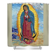Our Lady Of Guadalupe-new Dawn Shower Curtain by Mark Robbins