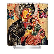Our Lady Of Perpetual Help Icon Shower Curtain by Ryszard Sleczka