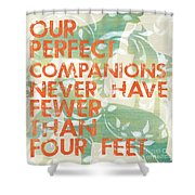 Our Perfect Companion Shower Curtain by Debbie DeWitt