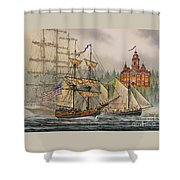 Our Seafaring Heritage Shower Curtain by James Williamson