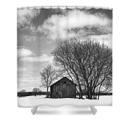 Out In The Sticks Shower Curtain by Thomas Young