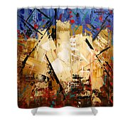 Out Of Darkness Shower Curtain by Anthony Falbo