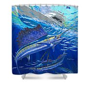Out Of Sight Shower Curtain by Carey Chen