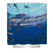 Out of the blue Off009 Shower Curtain by Carey Chen