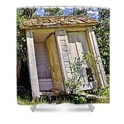 Outhouse For Two Shower Curtain by Sue Smith