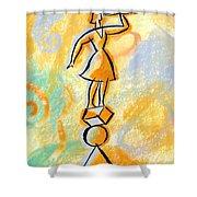 Outlook Shower Curtain by Leon Zernitsky