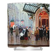Outside The Vaudeville Theatre Shower Curtain by Jean Beraud