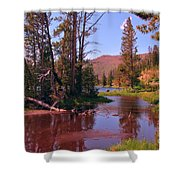 Outstanding Yellowstone National Park Shower Curtain by John Malone