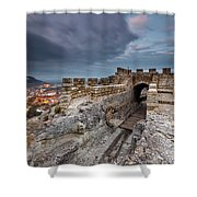 Ovech Fortress Shower Curtain by Evgeni Dinev