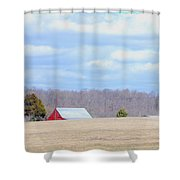 Over The Rise - Kentucky Shower Curtain by Paulette B Wright