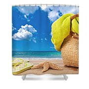 Overlooking The Ocean Shower Curtain by Amanda And Christopher Elwell