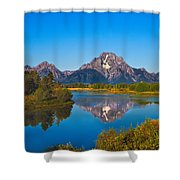 Oxbow Bend II Shower Curtain by Robert Bales