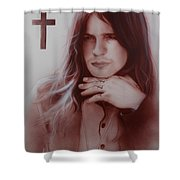 'ozzy Osbourne' Shower Curtain by Christian Chapman Art