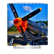 P-51 Mustang - Speedball Alice Shower Curtain by David Patterson